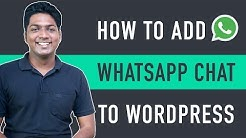 How to Add WhatsApp Chat to WordPress Website