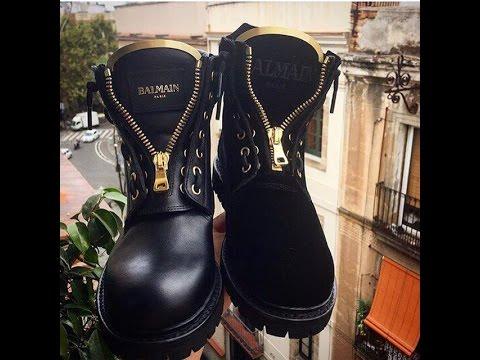 Балмаин ботинки женские копия - YouTube