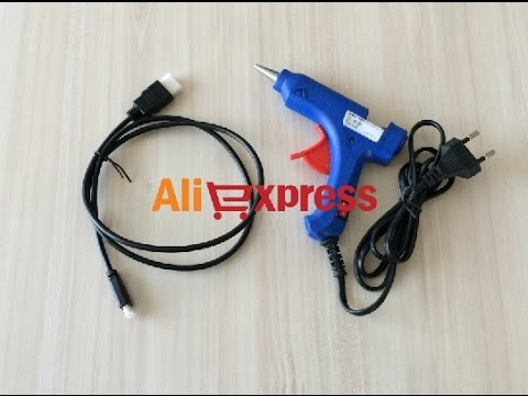 20W Hot Melt Glue Gun and Micro HDMI Cable Review Aliexpress.com