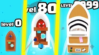IS THIS THE HIGHEST LEVEL EXPENSIVE BOAT EVOLUTION? (9999+ YACHT LEVEL) l Hooked Inc: Fisher Tycoon