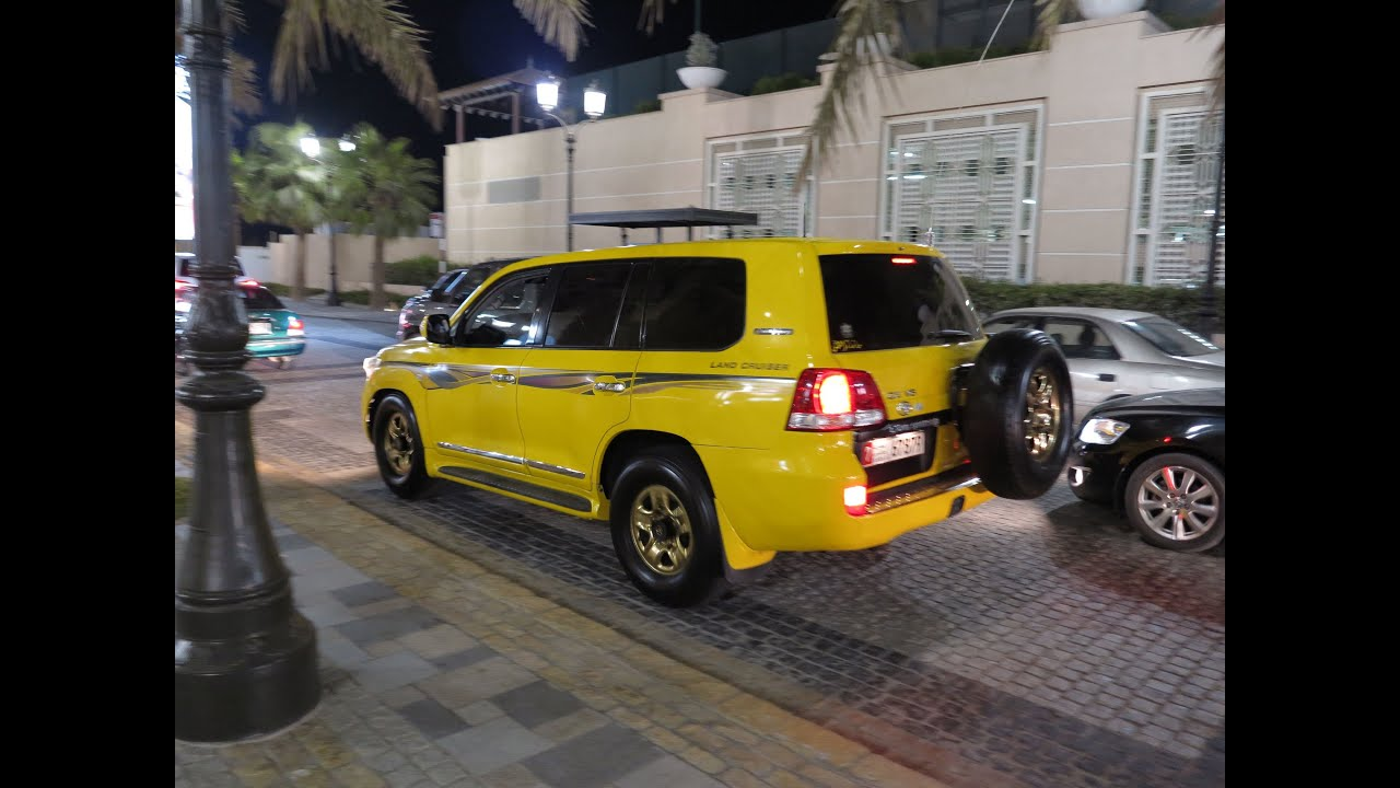 Yellow  Gold Toyota Land Cruiser Gx V6 - Dubai Marina