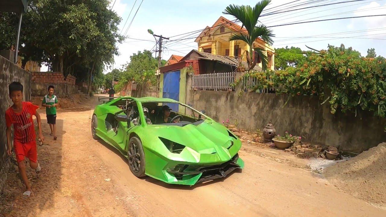 Chạy thử nghiệm Lamborghini tự chế | Run homemade lamborghini test for $ 500