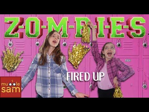 FIRED UP Disney's Zombies Cast 🎵 Sophia & Bella Mugglesam
