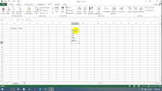 Ms excel data validation