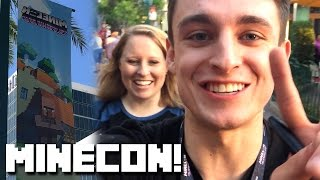 Minecon 2016 VLOG Day 0! Got To Meet Sally!!!