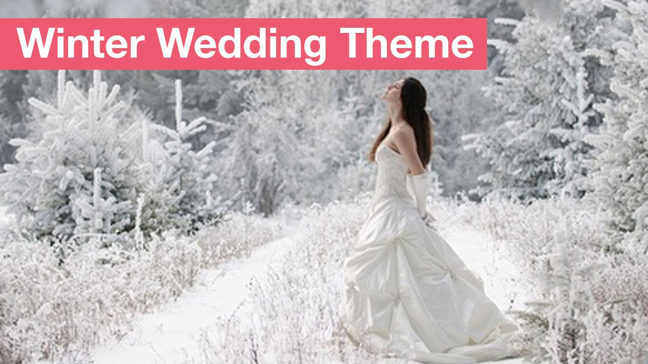 How To Create A Winter Wedding Theme - YouTube