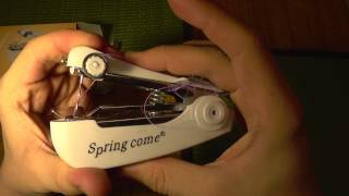 Handheld Mechanical Sewing Machine Demo