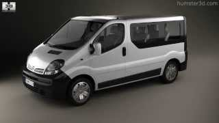 Nissan Primastar Passenger Van 2002 by 3D model store Humster3D.com