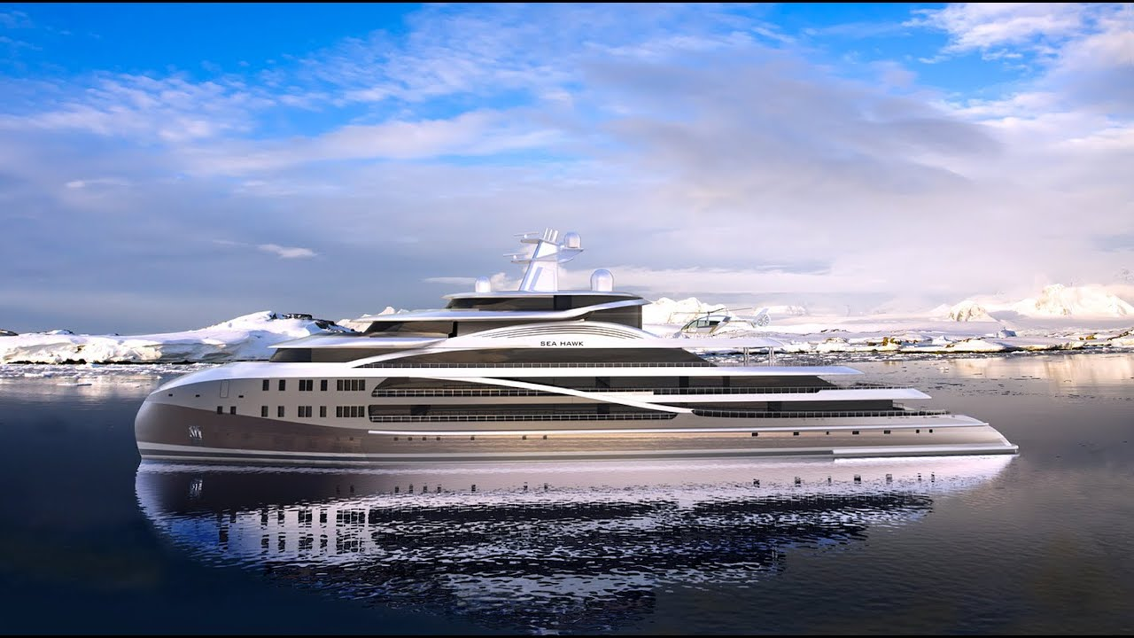 mega luxury yachts sale with Watch on Superyacht Amore Mio besides United States in addition Sinot Nature Yacht Monaco 09 23 2017 likewise Render E as well Mega Yacht Concept Design 105m 4 respond.