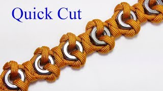 Hex Nut Paracord Bracelet  - Quick Cut