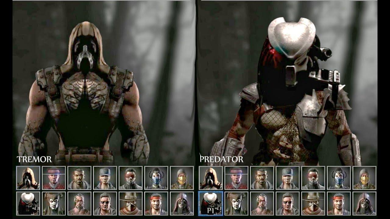 Mortal Kombat X Animated Select Flash Screen Roster 29 Character