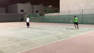 Tennis Doubles Game Highlights