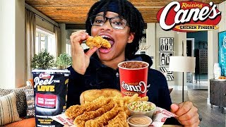 CANE'S CHICKEN TENDERS MUKBANG! TEEN EATING SHOW!