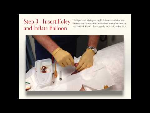 Male Foley Catheter Insertion - Placement - Best Practice