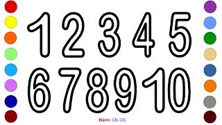 How to draw numbers 1 to 10 for kids | Learn numbers with colors | Learn numbers 1-10
