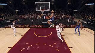Hard slam dunk in the nba finals