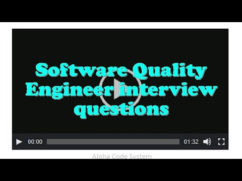 Software Quality Engineer Interview Questions Yt