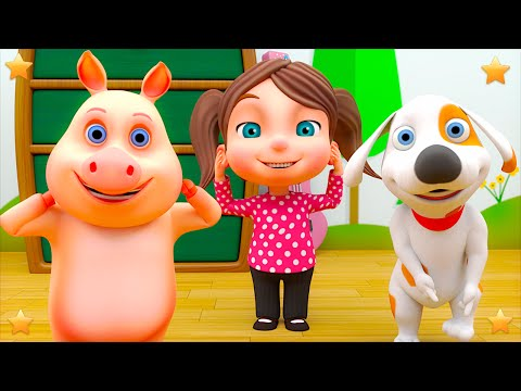 Head Shoulders Knees and Toes | Kindergarten Kids Songs | Baby Nursery Rhymes Animation Video Vy Little Treehouse