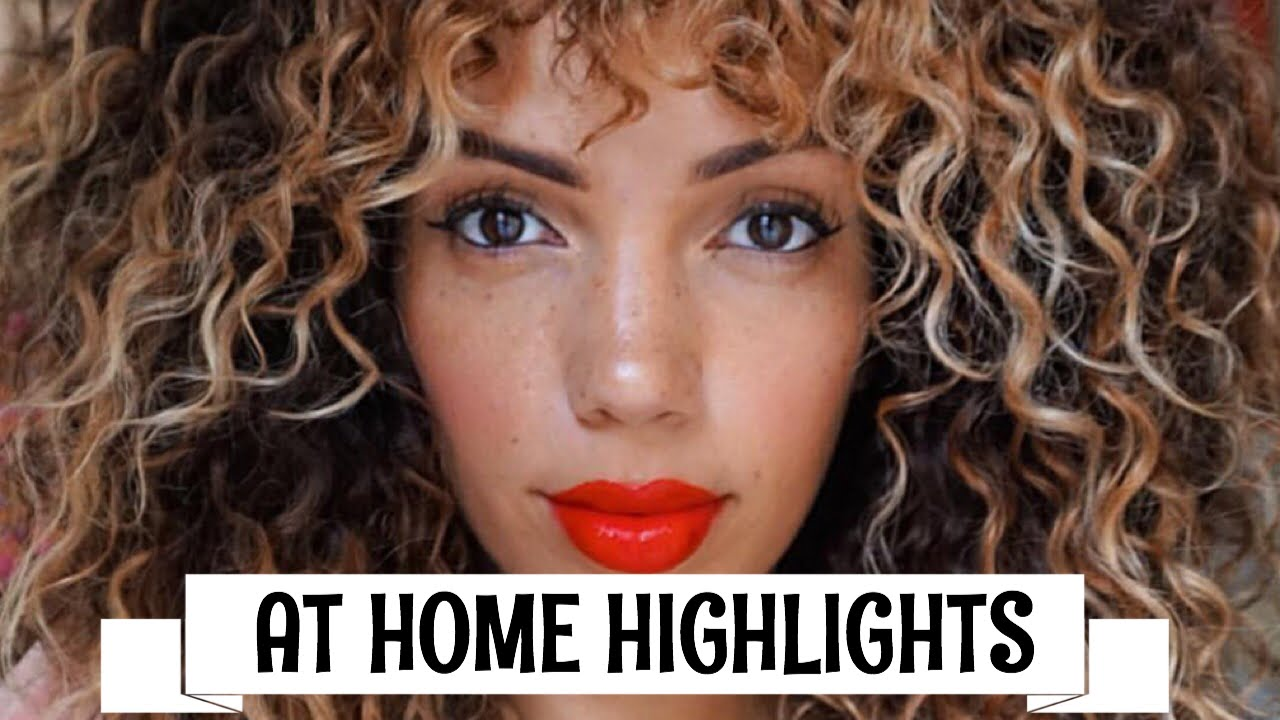 HOW TO HIGHLIGHT/OMBRE CURLY HAIR AT HOME DIY ( REVLON FROST  GLOW )
