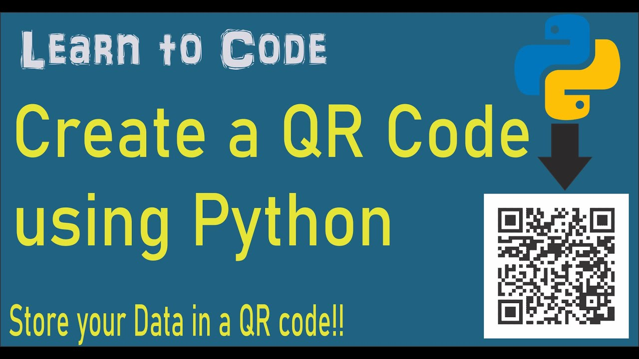 Python | Create a QR Code with your data using Python (5 lines of code)