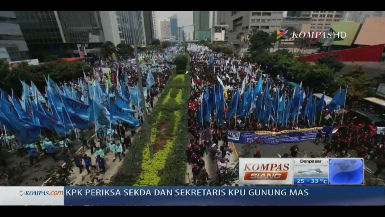 Buruh Demo Serentak Di Berbagai Kota Kompas Siang