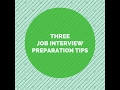 How to prepare for an interview and interview techniques