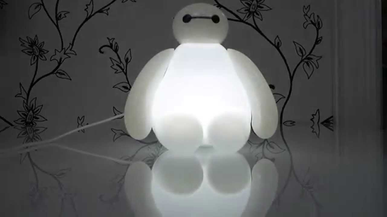 Big Hero 6 - Baymax USB LED Lamp (with Remote Control) - YouTube