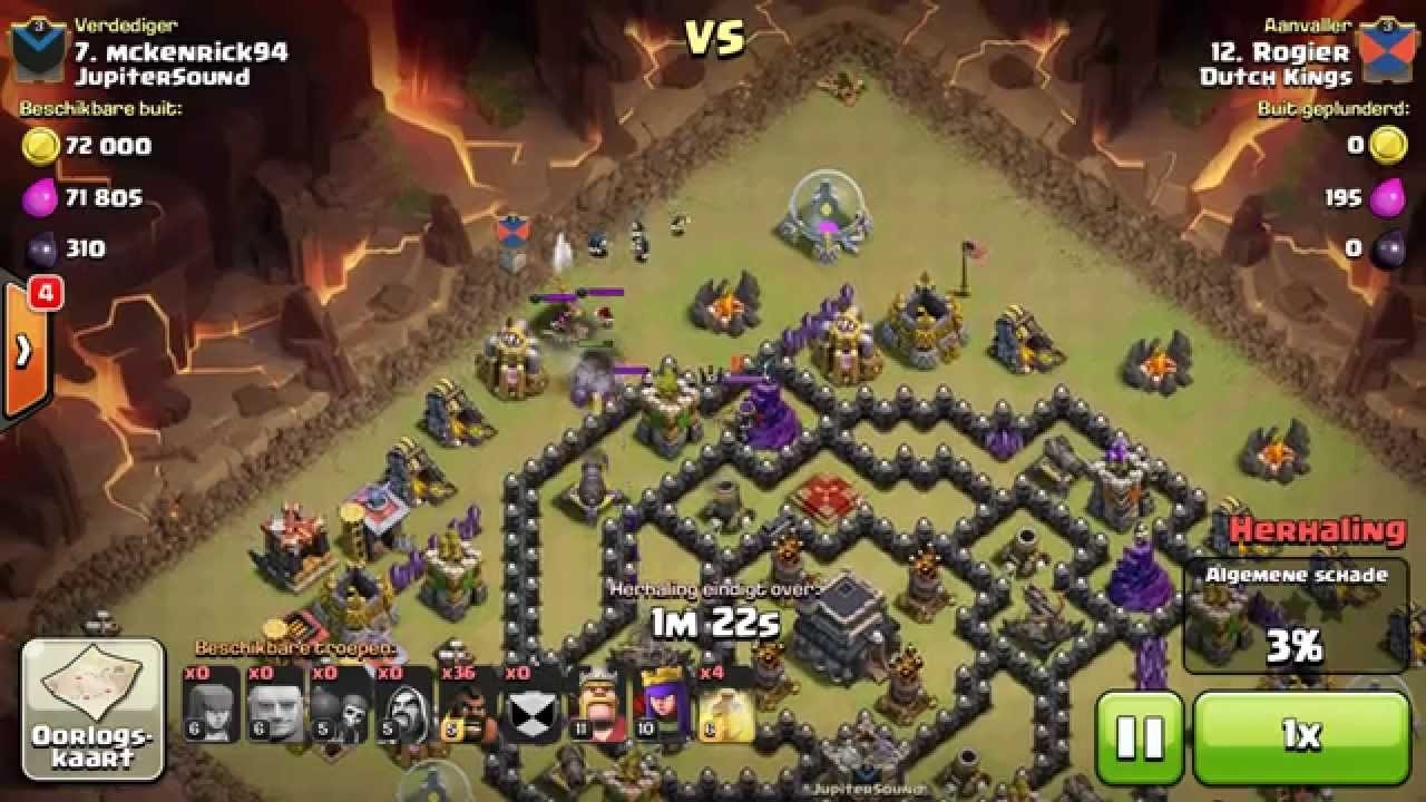 CoC - 3 Star GoHo Hog attack on a TH9 - YouTube