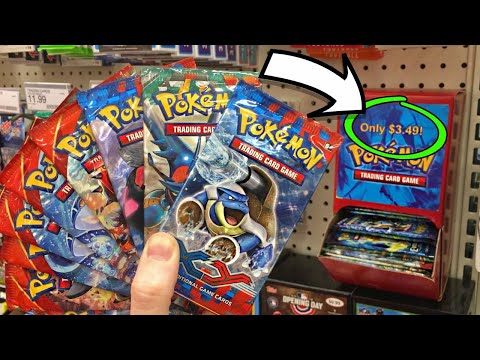 MY TARGET HAD PACKS OF XY POKEMON CARDS IN THE CHEAP BOX! Opening time