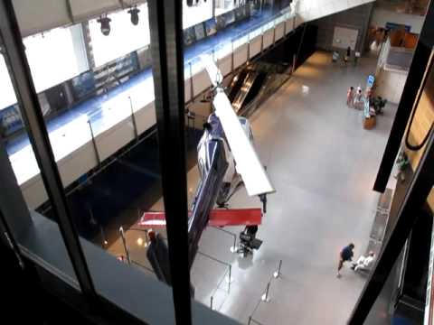 Worlds largest hydraulic elevator ride at the Newseum in Washington DC - July 2009