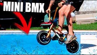 MEGA SALTOS CON MINI BMX EN LA PISCINA !! (SALTOS EXTREMOS) Makiman