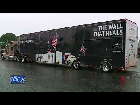 The wall that heals visits local area