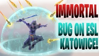 IMMORTAL BUG ON ESL KATOWICE! Fortnite Battle Royale Moments!