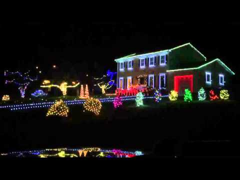 Christmas Lights 2015 set to Van Halen -Panama