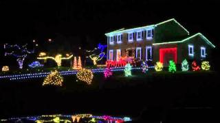 Christmas Lights 2015 set to Van Halen -Panama