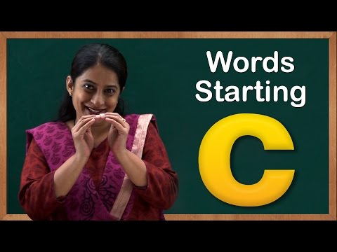 Learn Words Starting with C | Flash Cards – Words Starting With Letter c | Toddler Words With C