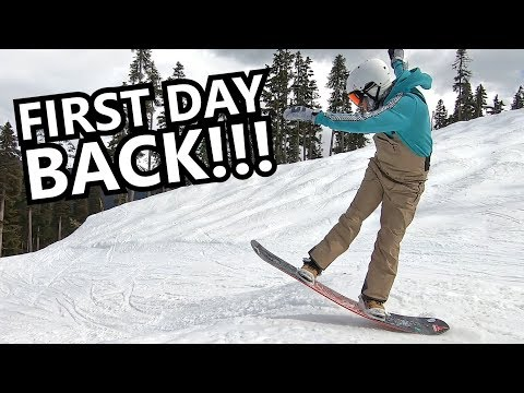 Tips for First Day Back Snowboarding