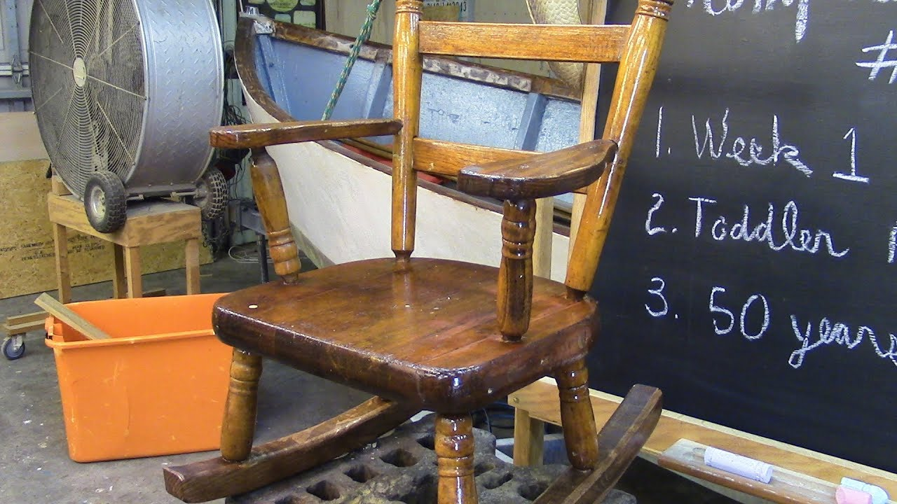 157 Restoring A 50 Year Old Toddler Rocking Chair