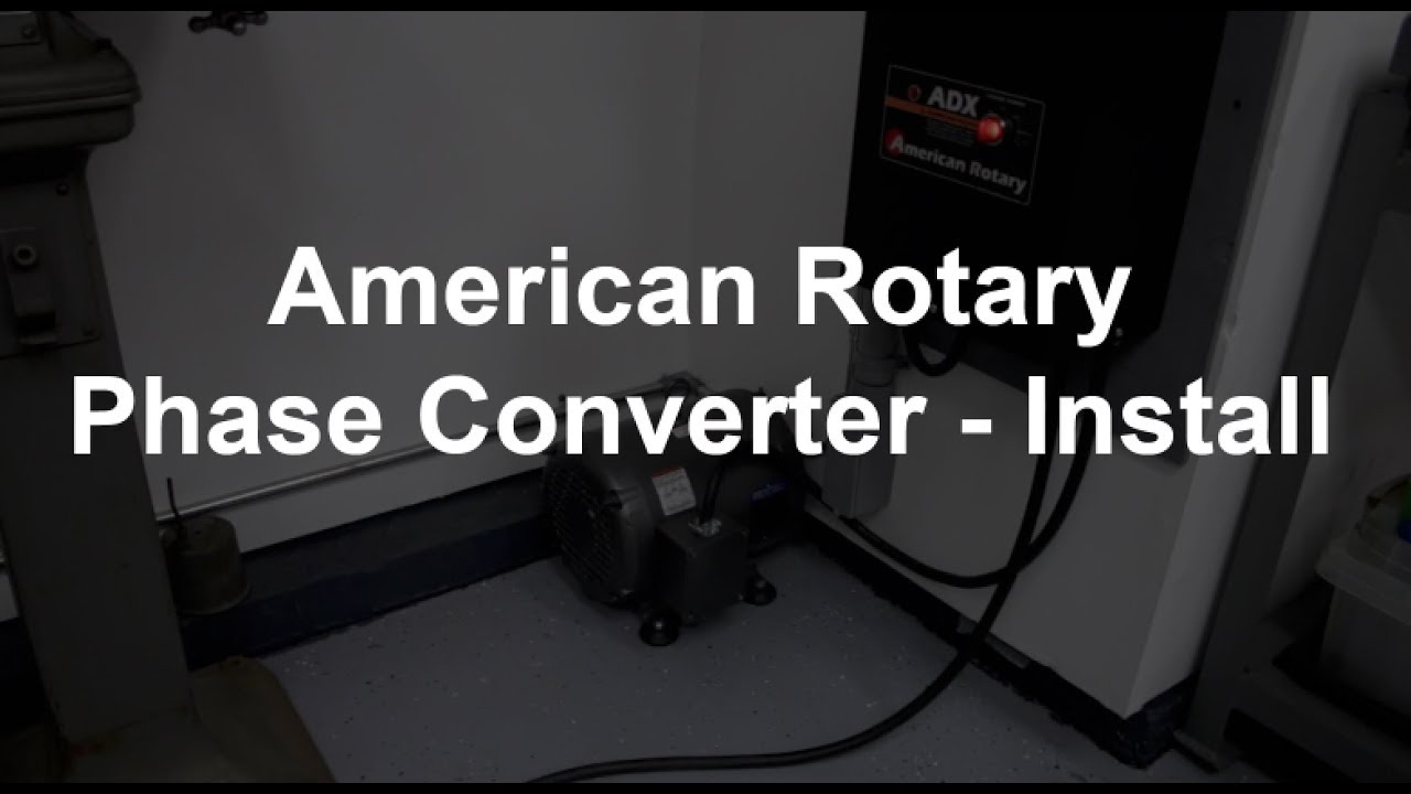 american rotary phase converter install