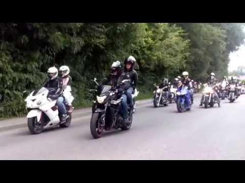 Parada motocykli Słopnice 07.07.2013,  przejaz