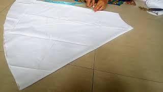 Circular plazo cutting and stitching //cutting and sewing of circular plazo in Hindi