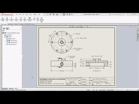 SolidWorks Sheets: Drawing Views and Dimensioning