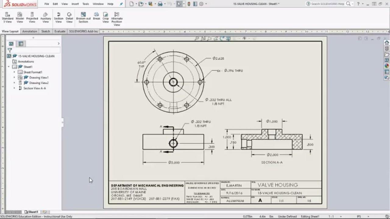 solidworks sheet metal drawing pdf