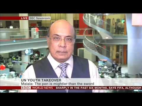 BBC World News UN Malala Day Coverage on Impact - Part Two