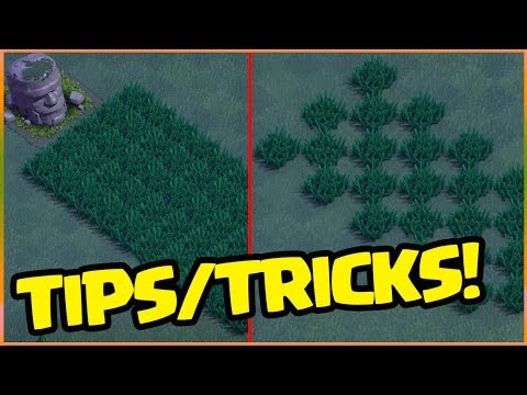 Barbarian Head SECRETS! MORE Tall Grass! Clash of Clans Builder Base Tips!