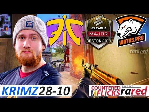 KRIMZ 28-10 / fnatic vs Virtus Pro / ELEAGUE Boston Major 2018 /  Swiss R2