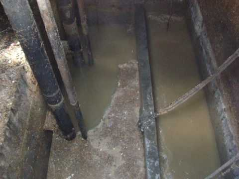 untreated sewage
