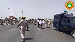 किसान आंदोलन: KMP हाईवे जाम करने वाले मेवात के किसानों को पुलिस ने किया गिरफ्तार