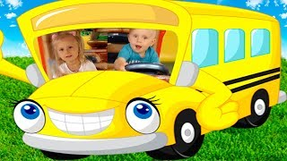 Funny Babies Indoor Playground Play |The Wheels on The Bus & Nursery Rhymes song for kids, toddlers
