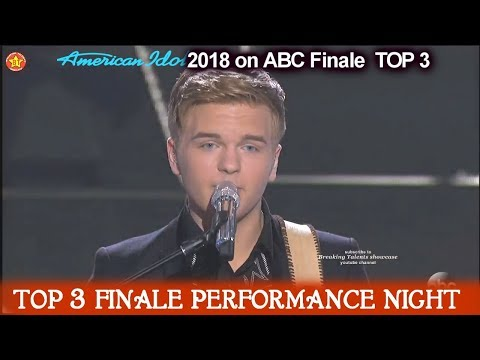 """Caleb Lee Hutchinson sings """"Folsom Prison Blues"""" Hometown song  American Idol 2018 Finale Top 3"""
